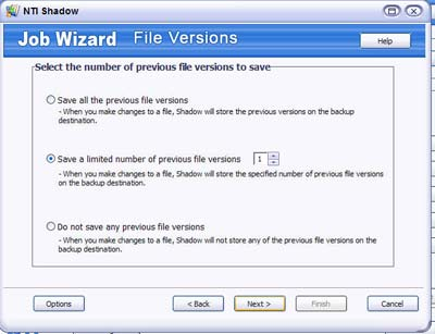NTI Shadow 3 - Job Wizard