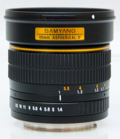 Samyang 85mm f/1.4 ED AS UMC