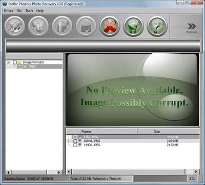 Stellar Phoenix  Photo Recovery - Main Interface