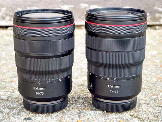 Canon RF 24-70mm and 15-35mm