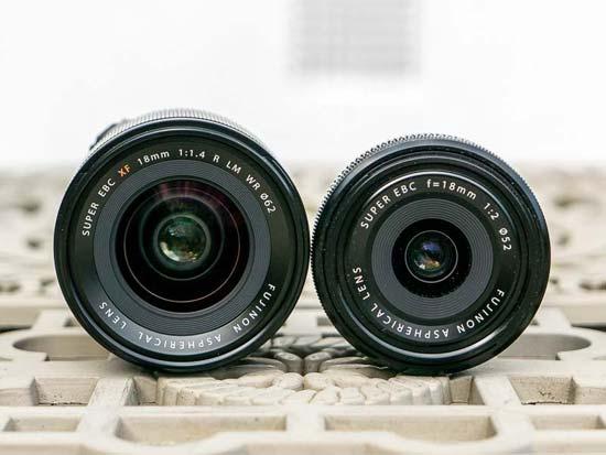 Fujifilm XF 18mm F1.4 vs XF 18mm F2 - Head to Head Comparison