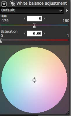 Silkypix Developer Studio - White Balance Wheel
